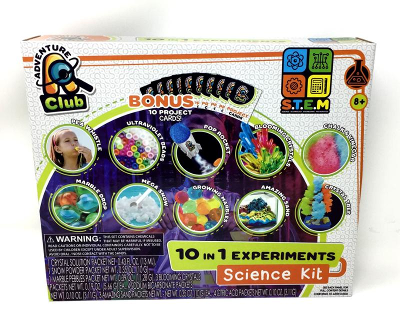 10 in 1 Experiments Science Kit