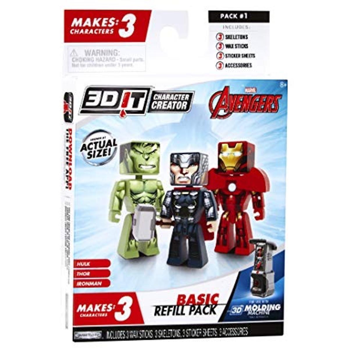 3D Character Creator Marvel Avengers Basic Refill Pack