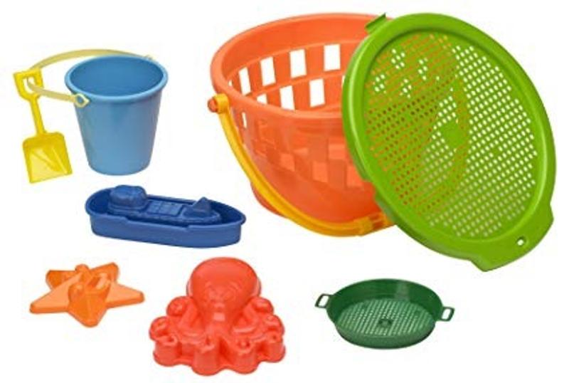 8 Piece Jumbo Value Beach Bucket Set