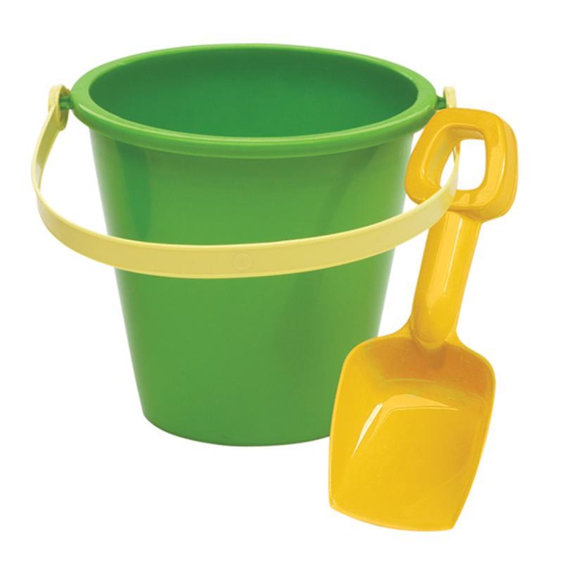 5 Inch Green Pail & Shovel Set
