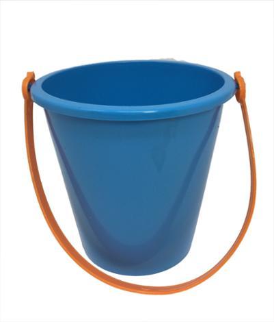 6 Inch Blue Pail & Shovel Set with Orange Handle