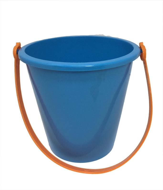 6 Inch Blue Pail & Shovel Set with Orange Handle
