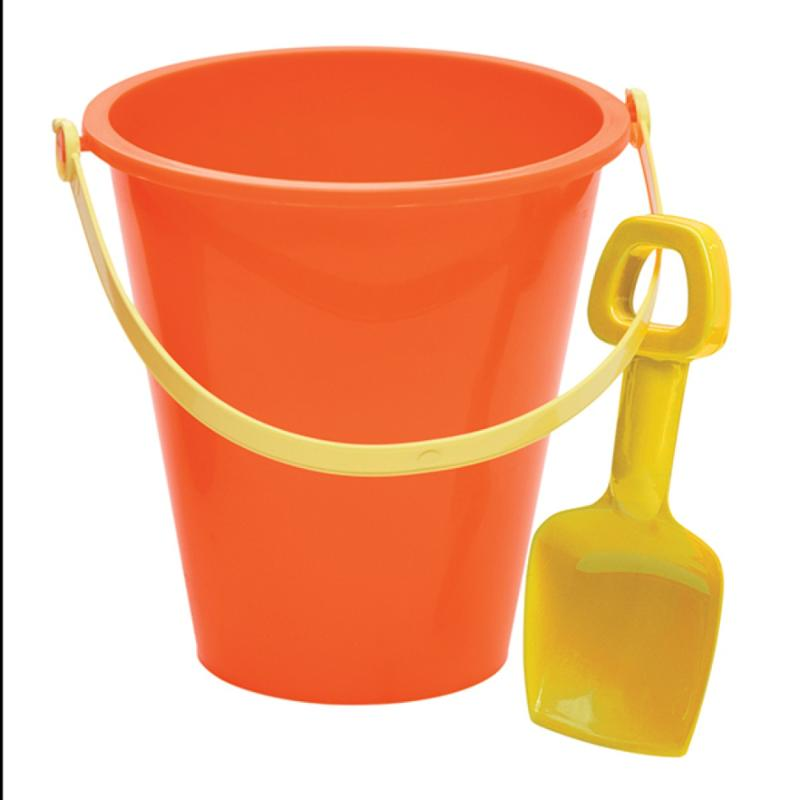 7 Inch Orange Pail & Shovel