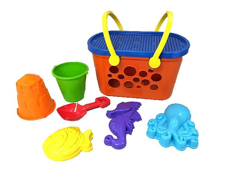 8 Piece Beach Basket Set