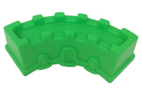 Curved Rectangular Green Sand Castle Mold