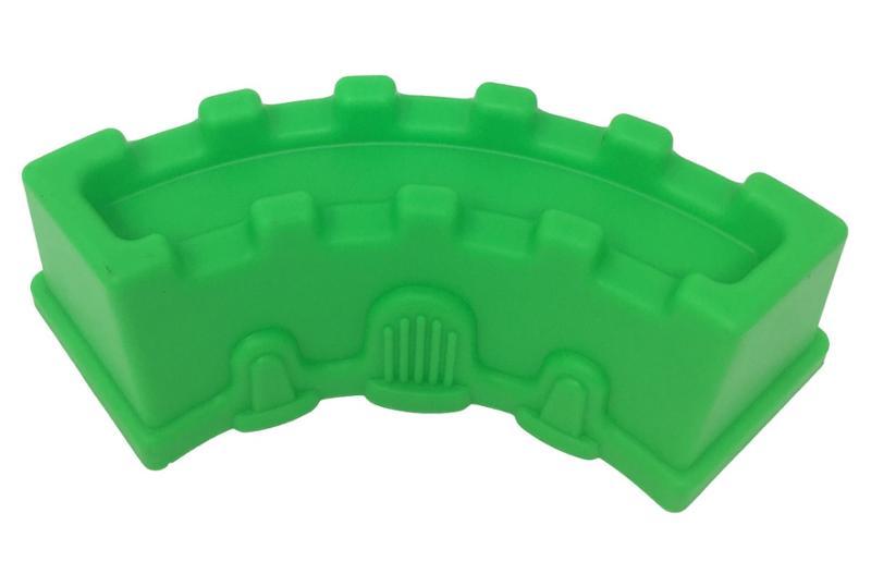 Curved Rectangular Green Sand Castle Mold