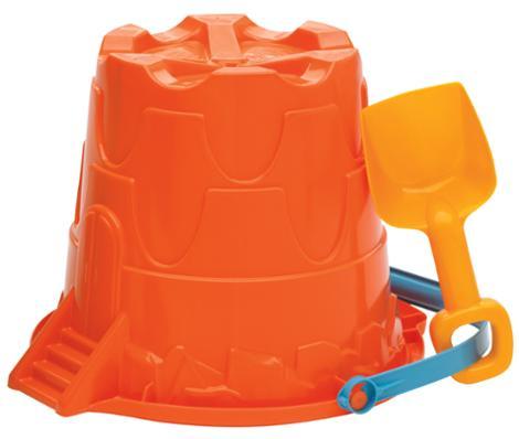 Giant Castle Pail and Shovel Set Orange