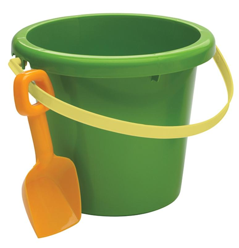 Jumbo 2 Gallon Round Pail and Shovel Green