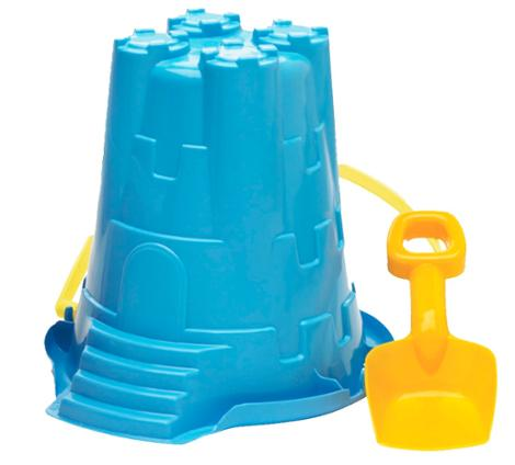 Jumbo Castle Mold Pail and Shovel Assorted Colors