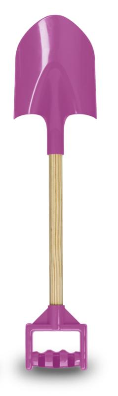 Wood Handle Sand Shovel Purple, 24 Inch