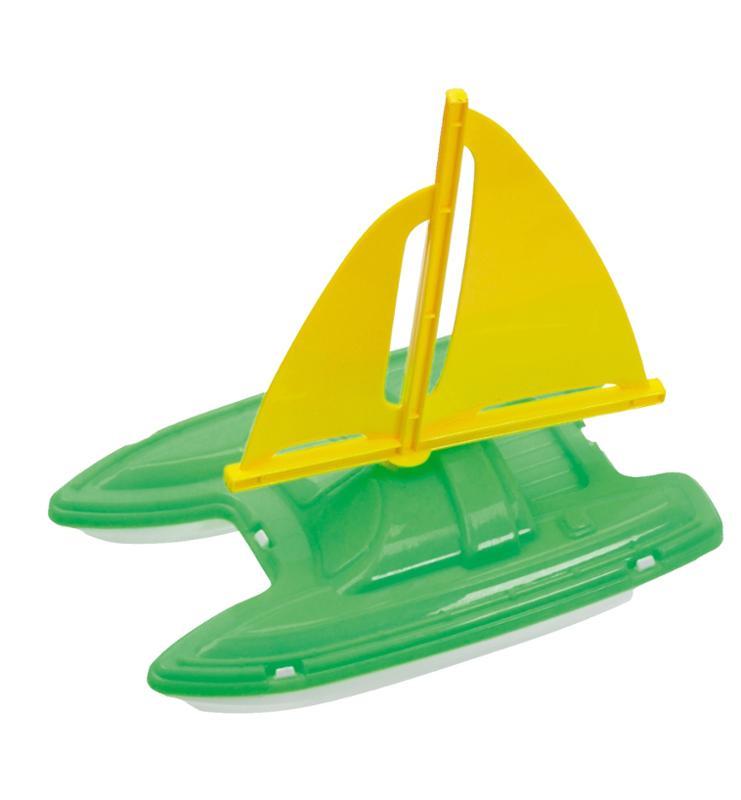 Sail Boat with Yellow Sail