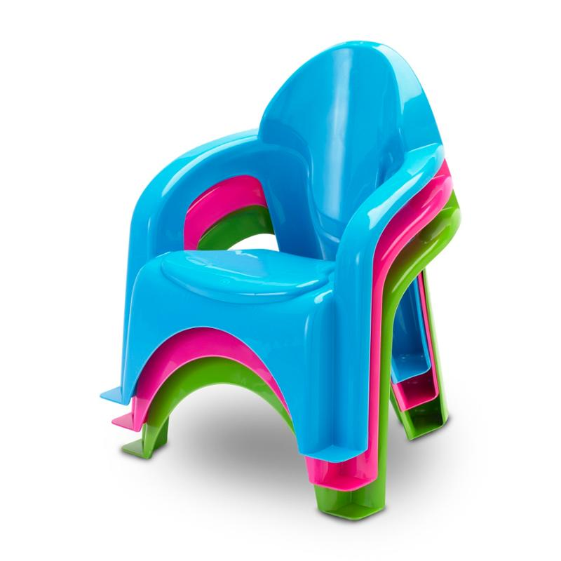 Kids Stacking Chair Green
