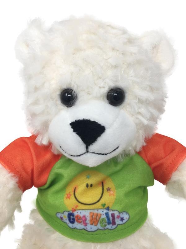 Arctic White Get Well Soon Teddy Bear with Tee Shirt