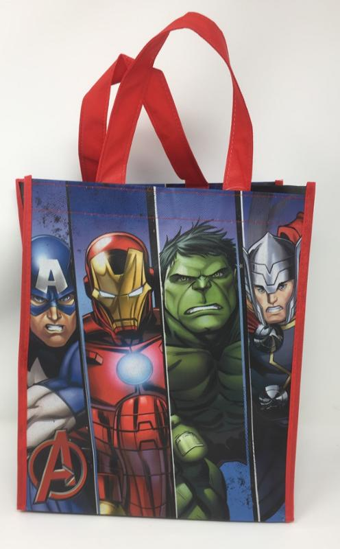 Avengers Authentic Licensed Goody Bags, Tote or Gift Bags with Handles, Medium 12 Inch Party Favor Set (6 Pack)