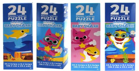 Baby Shark 24 Piece Tower Puzzle One Randomly Selected