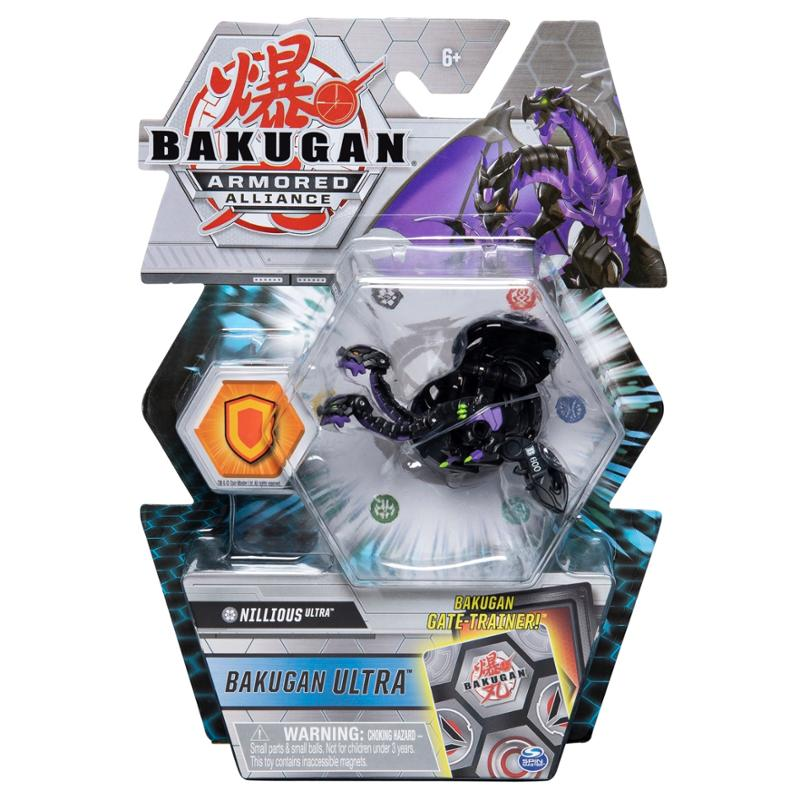 Bakugan Ultra Nillious Armored Alliance Collectible Action Figure and Trading Card