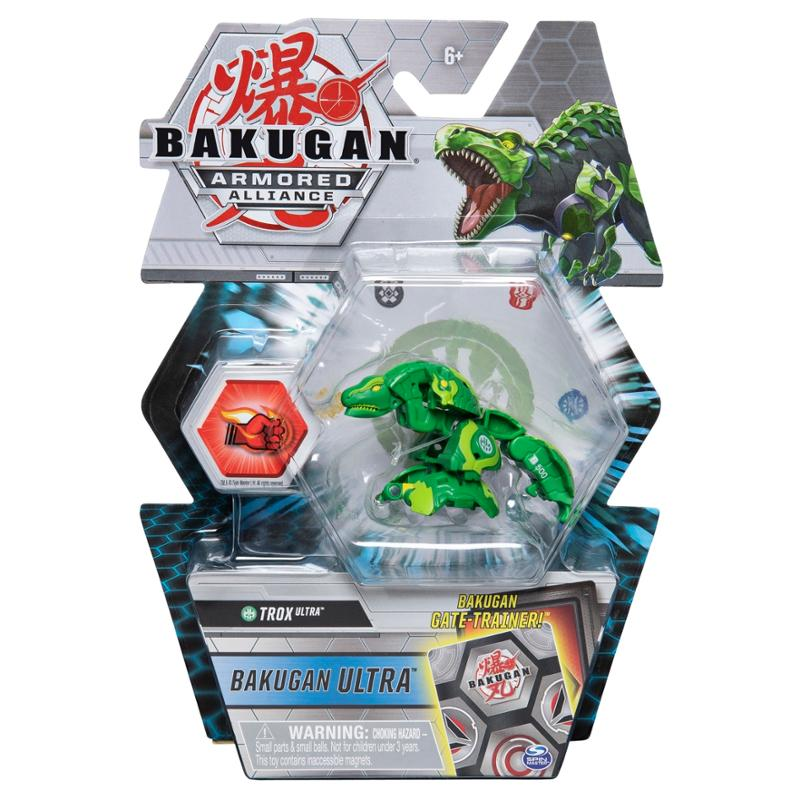Bakugan Ultra Trox Armored Alliance Collectible Action Figure and Trading Card