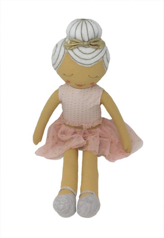 Ballerina Dress Throw Pillow Pink 20 Inch Doll