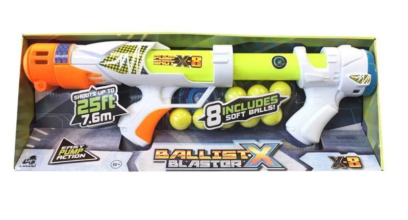 Ballist X Shooter with 8 Soft Balls