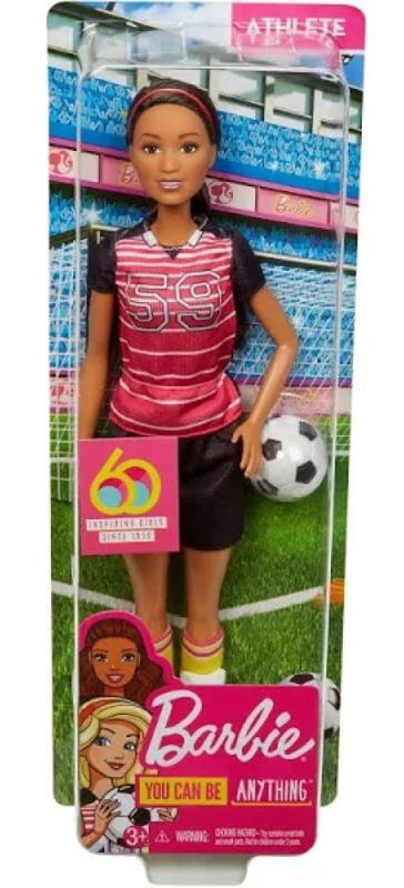 Barbie 60th Anniversary Careers Doll Athelete with Accessories