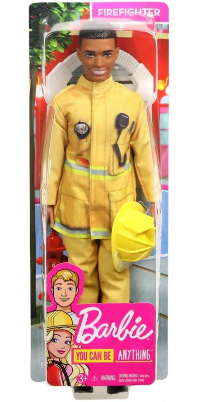 Barbie 60th Anniversary Careers Firefighter Ken Doll with Accessories