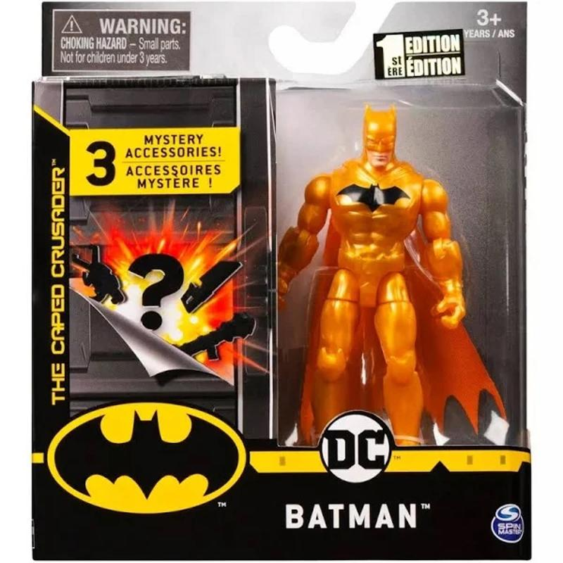 Batman The Caped Crusader Gold Action Figure with Accessories