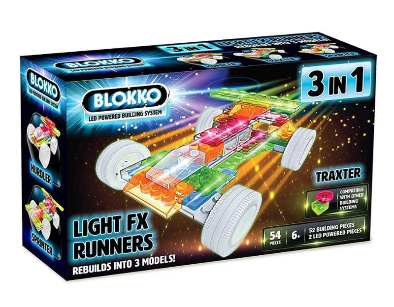 3 in 1 Light FX Runner Interlocking Blocks Race Car
