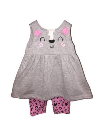 Kitten Dress and Leggings Set 6 to 9 Months