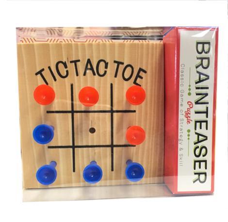 Brainteaser Wooden Tic Tac Toe Puzzles