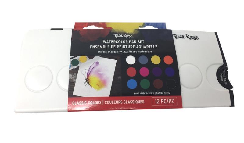 Brea Reese Watercolor Pan Set 12 Colors
