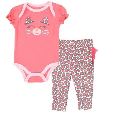 Sweet Kitten Bodysuit and Pants Set 6-9 Months