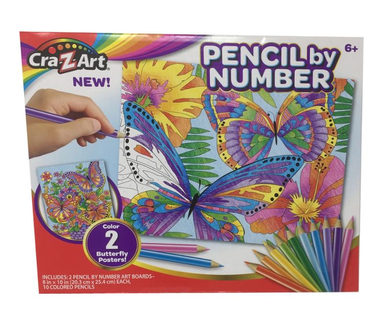 Cra Z Art Pencil By Number Butterfly