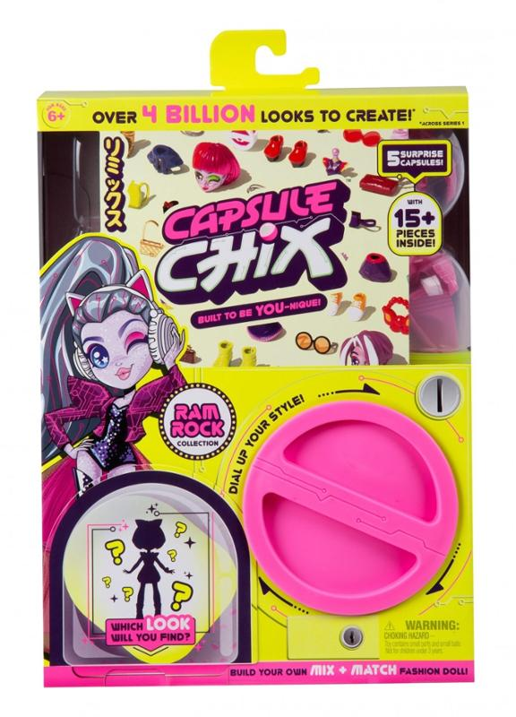 Capsule Chix Ram Rock Collection Doll with Mix and Match Fashions and Accessories