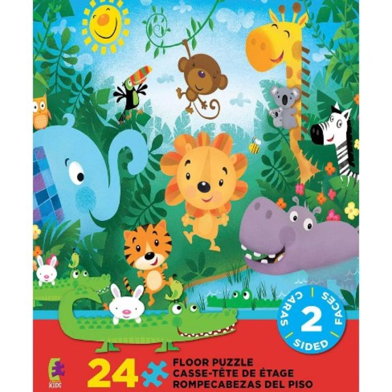 Jungle Animal Double Sided Floor Puzzle