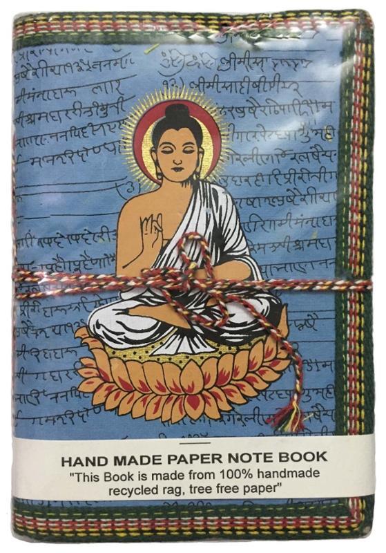 Chakra Cotton Tote Bag and Hand Made Buddha Journal