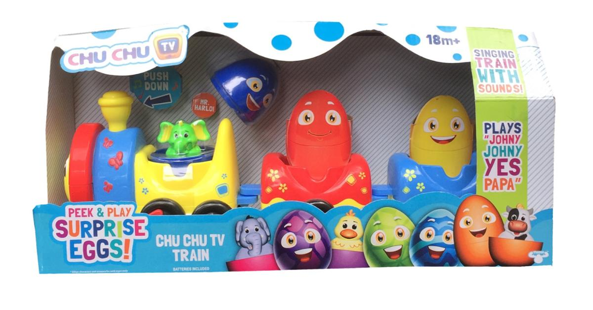 Chu Chu TV Train Peek and Play Surprise Eggs