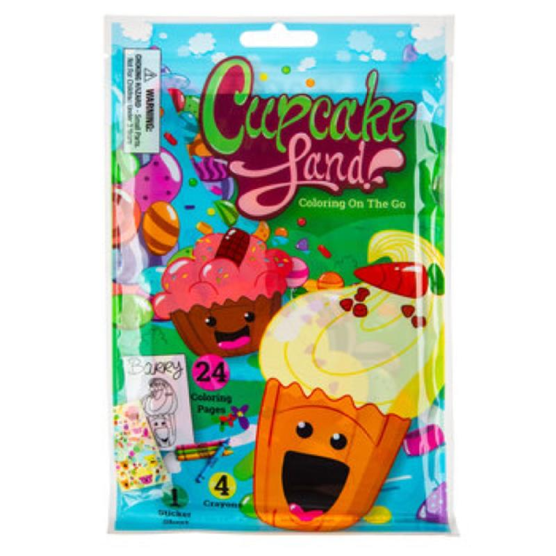 Cupcake Land Coloring On The Go Pouch