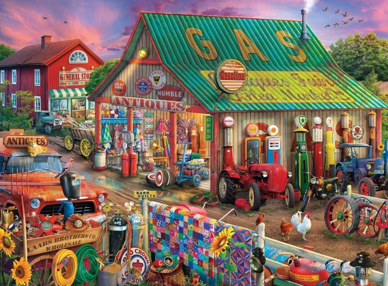 Country Life Antique Market 1000 Pc Puzzle