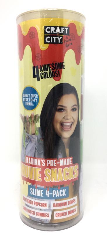 Craft City Karina Pre-Made Movie Snacks Slime 4 Pack