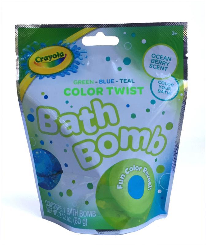 Crayola Bath Bomb Ocean Berry Scent