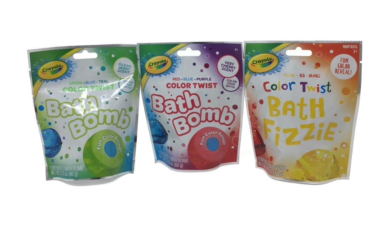 Crayola Color Twist Bath Fizzies Bundle (Red/Yellow/Blue or Green)