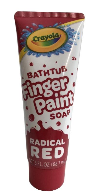 Crayola Radical Red Bathtub Finger Paint Soap