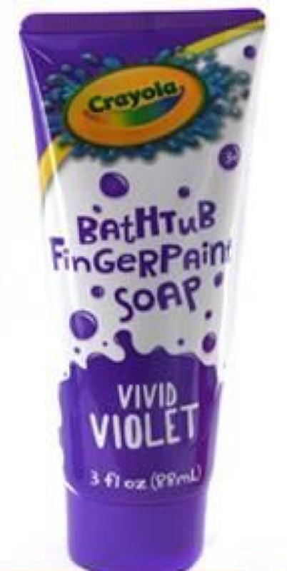 Crayola Vivid Violet Bathtub Finger Paint Soap