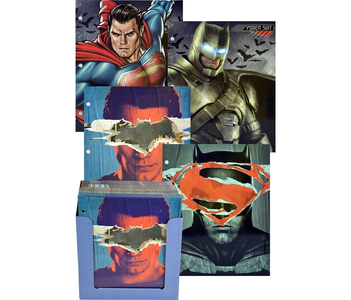 Novelty Character School Supplies DC Comics Batman V Superman Paper Portfolio Folders, Colors May Vary (2pc Set)