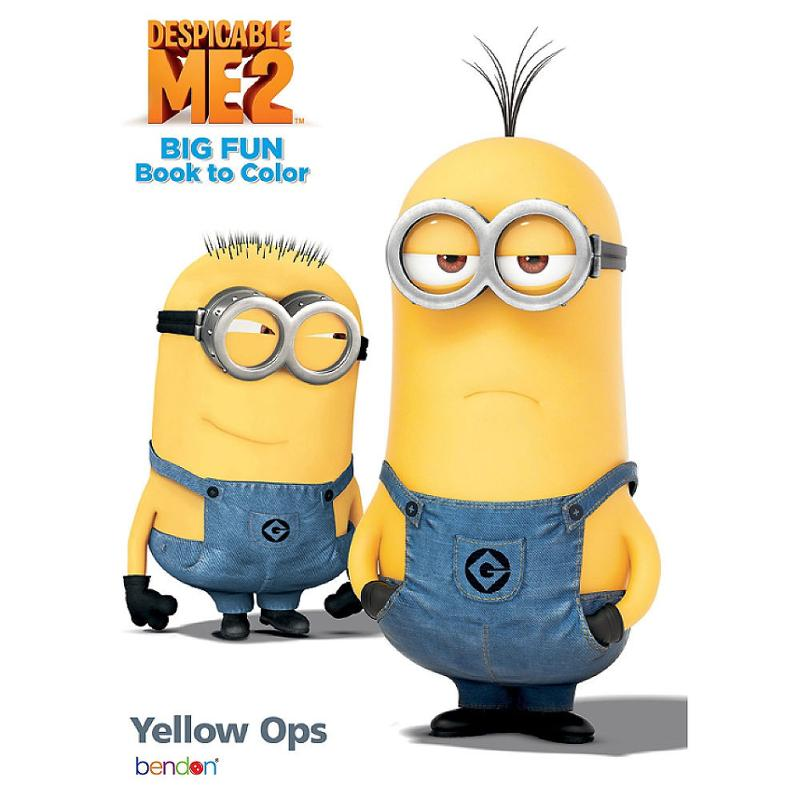 Despicable Me Jumbo Coloring and Activity Book Yellow Ops