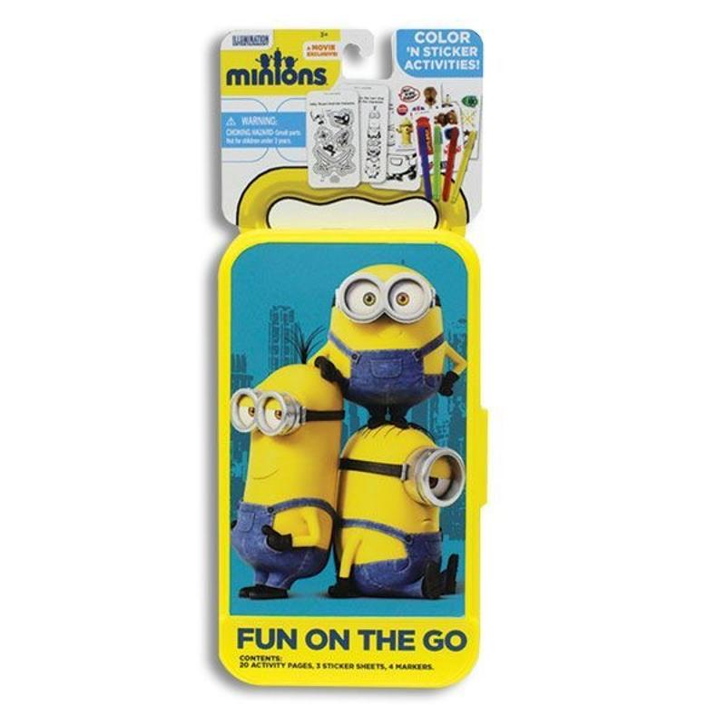 Despicable Me Minnions Coloring Book, On the Go Activity Kit and Get Well Bear 3 Piece Gift Set