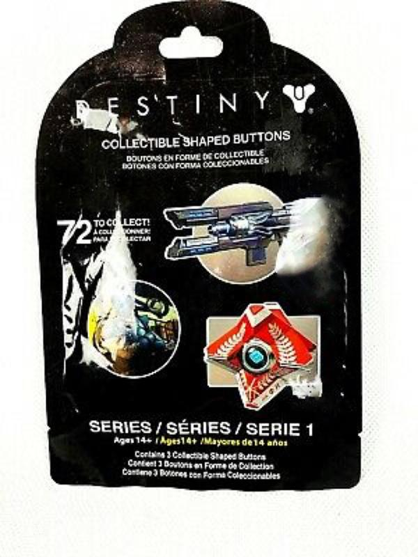 1 Destiny Collectible Shaped Buttons Pins Series 1 Sealed Blind Bags