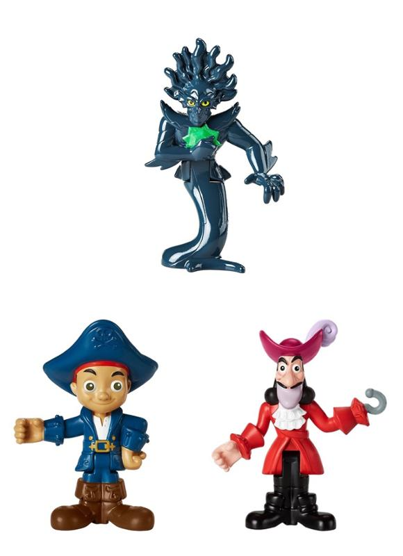 Captain Jake and the Neverland Pirates 3 Pack Assortment - Captain Jake, Lord Fathom, Captain Hook