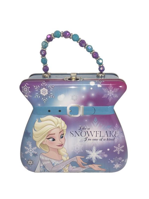 Frozen Like a Snow Flake Light Blue Belt Carry All Tin Purse