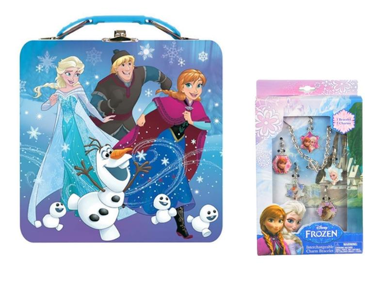 Disney Frozen Purse Tin and Charm Bracelet Gift Set